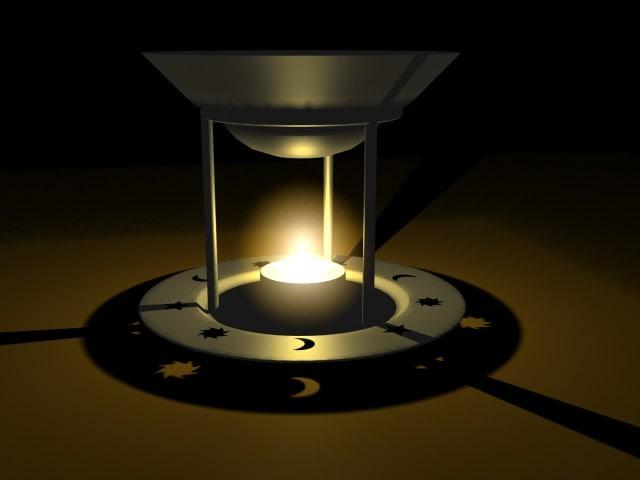 3d oil burner candle model