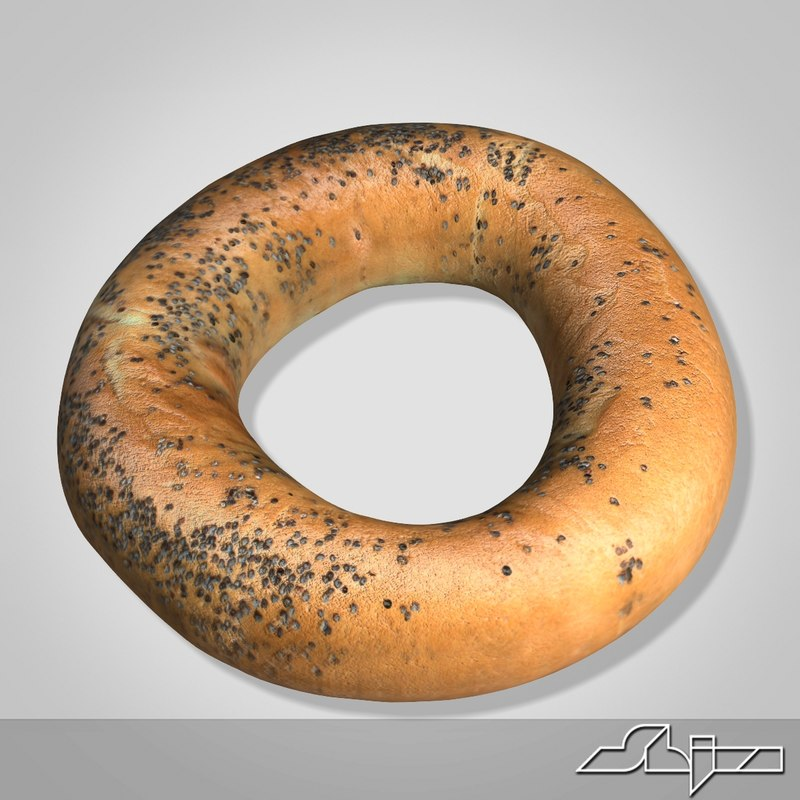 bagel bread 3d 3ds
