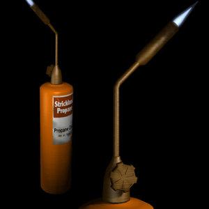propane torch flame 3d model