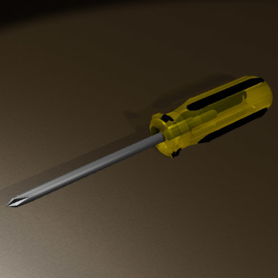 free screwdriver tool 3d model