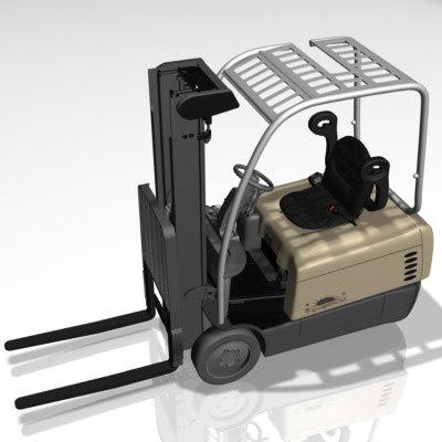 forklift industrial vecles 3d model