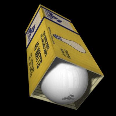 lightbulb light 3d lwo