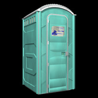 3d outhouse toilet port-a-potty model
