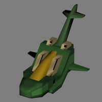 spacecraft fighter spaceship 3d model