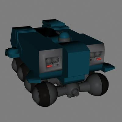 transport vehicle 3d model