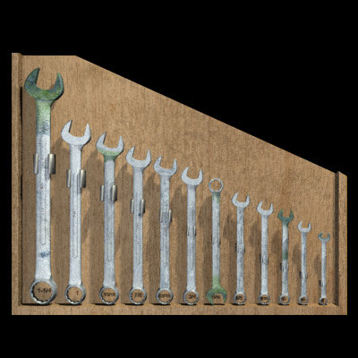 3d model of wrench set