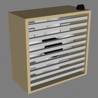 3d 3ds box fan