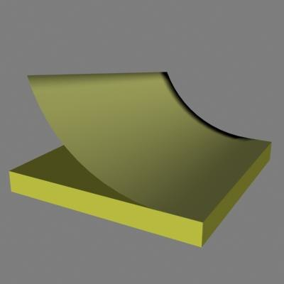 3d model of stickey pad note