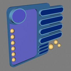 3d model interface