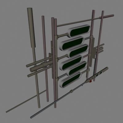 gray screens 3d model
