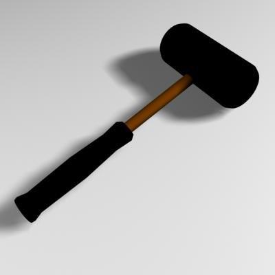 3d mallet tool model