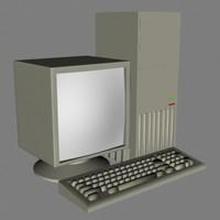 3d computer desktop model