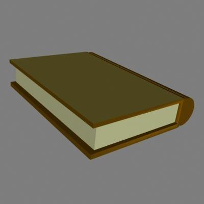brown book 3d model