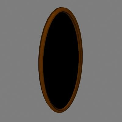 oval mirror frame 3ds