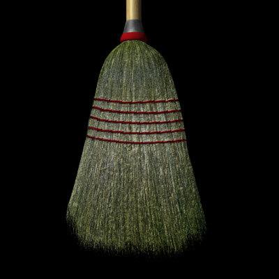 3d model broom