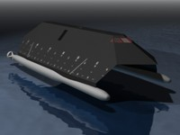 3ds max stealth ship sea shadow