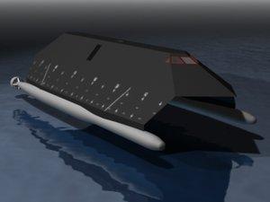 3ds max stealth ship sea shadow