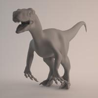 raptor dinosaur velociraptor 3d model