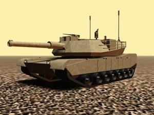 3d model m1 abrams