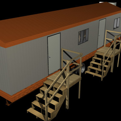 trailer blueprints 3d model