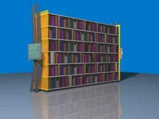 Maya Futuristic Bookshelf