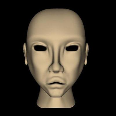 3d human head teenage model