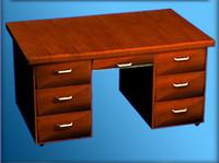 modeled drawers handles 3d model