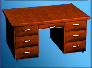 modeled drawers handles 3d model