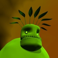 pea monster 3d max