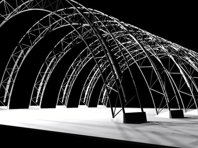 3d model truss building