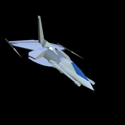 free x mode low-poly space
