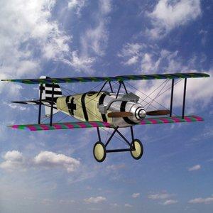 german albatros fighter 3d