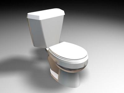 toilet 3d