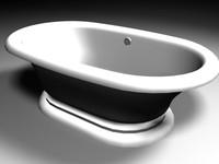 bathroom tub 3d model