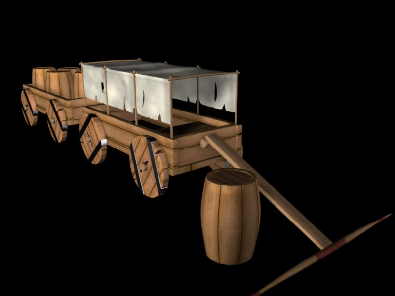 3d model caravan cars