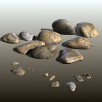 stones pebbles rocks 3d model