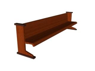 free bench 3d model