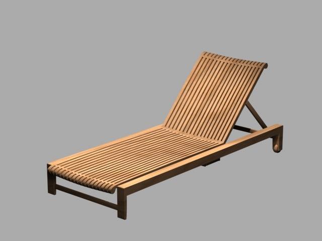 3d model chaise