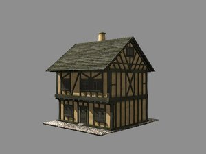 building medieval house 3d model