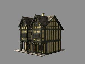 3d model building medieval house