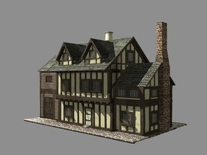 building medieval house 3d max