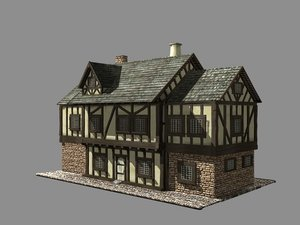 3ds max building medieval house