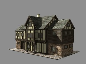 3d max building medieval house