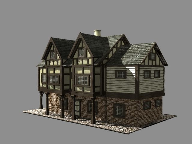 old europian house buildings 3d model