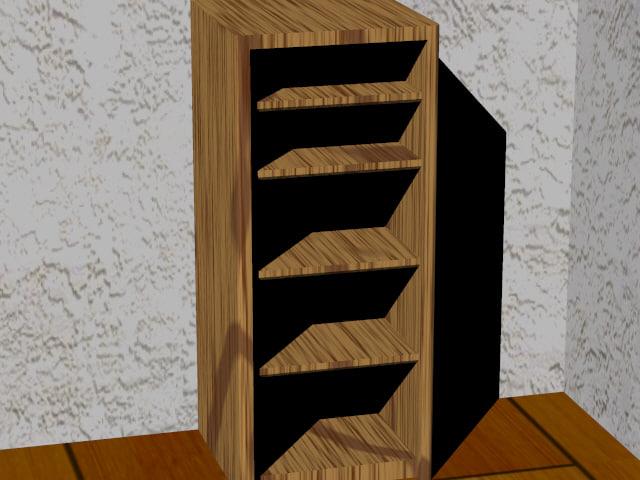 bookcase bookshelf shelf 3ds free