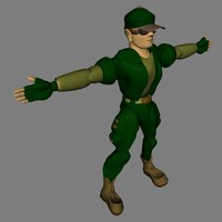 soldier military 3d lwo