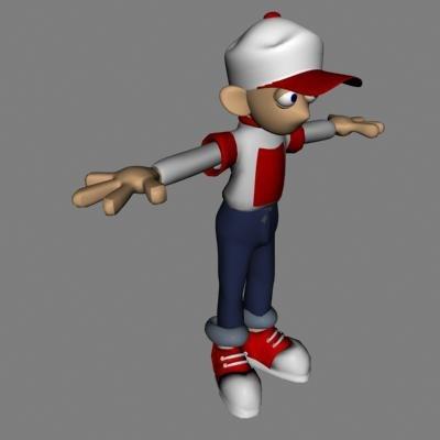 child boy 3d model