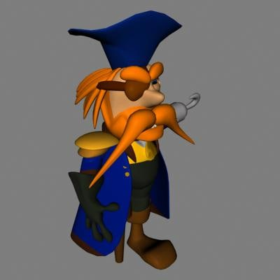3d pirate model
