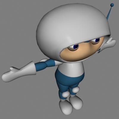 3d model of cartoon spaceman