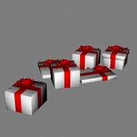 3d presents gift model